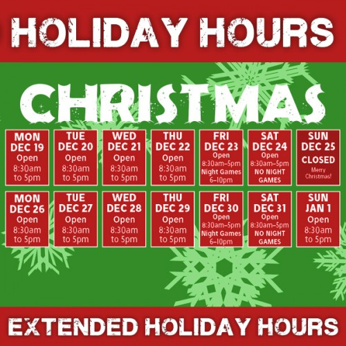 HOLIDAY HOURS 2016 CHRISTMAS HOURS 600X600PX